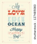 happy valentine's day hand... | Shutterstock .eps vector #127485083
