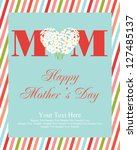 happy mothers day card design.... | Shutterstock .eps vector #127485137