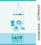 baby boy shower design. vector... | Shutterstock .eps vector #127494167