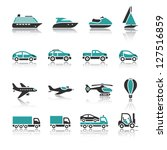 Set of transport icons - One - stock vector