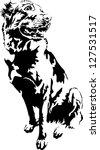 cute sheepdog looking... | Shutterstock .eps vector #127531517