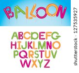 balloon font alphabet a through ... | Shutterstock .eps vector #127535927