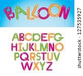 balloon font alphabet a through ... | Shutterstock .eps vector #127535927