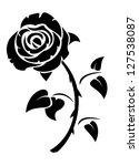 rose | Shutterstock .eps vector #127538087