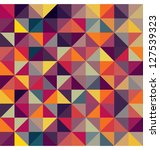 colorful geometric pattern.... | Shutterstock . vector #127539323