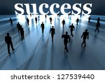 Walking towards success. 3D rendered Illustration. - stock photo