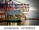 container ship in the harbor of ... | Shutterstock . vector #127540523