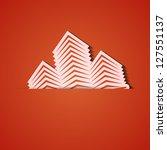 vector background. orange icon... | Shutterstock .eps vector #127551137
