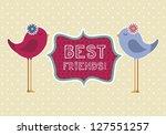 Cute Birds Over Beige...