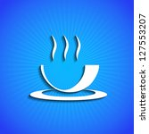 vector icon on blue background. ... | Shutterstock .eps vector #127553207