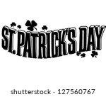 st. patrick's day banner  ... | Shutterstock .eps vector #127560767