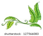 Illustration Of A Green Border...