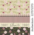 vintage floral invitation card | Shutterstock .eps vector #127571573