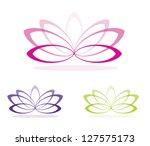simple lotus flowers in vector...