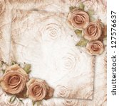 card for greeting or invitation ... | Shutterstock . vector #127576637