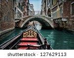 Gondola In Venice  Hdr