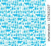 seamless dairy products pattern....