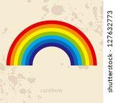 Rainbow, vector illustration