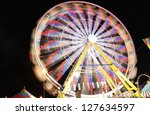 long exposure of a colorful and ... | Shutterstock . vector #127634597