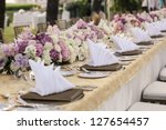 the elegant dinner table. | Shutterstock . vector #127654457