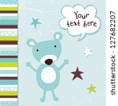 Raster Greeting Card Template...