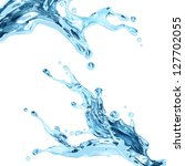 Clear water splash. Dynamic liquid splash - stock photo