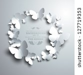 wreath made of white paper... | Shutterstock .eps vector #127719353