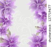 invitation or wedding card with ... | Shutterstock .eps vector #127719677