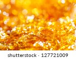 caramel gold glitter background - stock photo