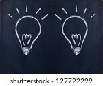 Light bulb, new idea - stock photo