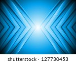 abstract blue tech background.... | Shutterstock .eps vector #127730453