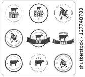 set of premium beef labels ... | Shutterstock . vector #127748783
