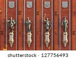 sculptures on the facade of the ... | Shutterstock . vector #127756493