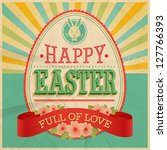 easter vintage card. vector... | Shutterstock .eps vector #127766393