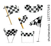 checkered flags  vector set | Shutterstock .eps vector #127777193