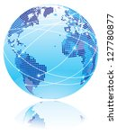 internet globe. globe with... | Shutterstock .eps vector #127780877