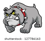aggressive,angry,art,bark,barking dog,beware,breed,bulldog,cartoon,classic,dog,english,grey,guard,head