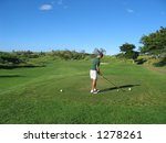 golfer on tee hawaii | Shutterstock . vector #1278261