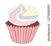 pastel cream cupcake | Shutterstock .eps vector #127838393