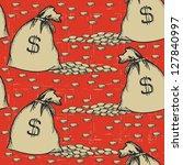 money bags seamless pattern...   Shutterstock .eps vector #127840997