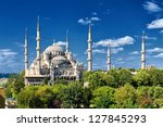 blue mosque  istanbul  turkey | Shutterstock . vector #127845293