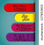 illustration of big sale icons... | Shutterstock .eps vector #127852823