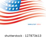 american flag 4th july american ... | Shutterstock .eps vector #127873613