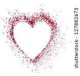 blank colorful symbol valentine ... | Shutterstock . vector #127882673