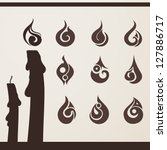 fire flame set for design | Shutterstock .eps vector #127886717