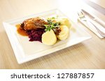 Roast Duck With Red Cabbage An...