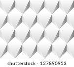 white volumetric abstract... | Shutterstock . vector #127890953