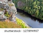 canoeists entering barron... | Shutterstock . vector #127894907