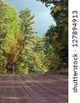 barron canyon road   ontario ... | Shutterstock . vector #127894913