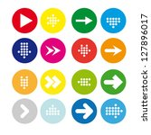 set  4 of round icons with... | Shutterstock .eps vector #127896017